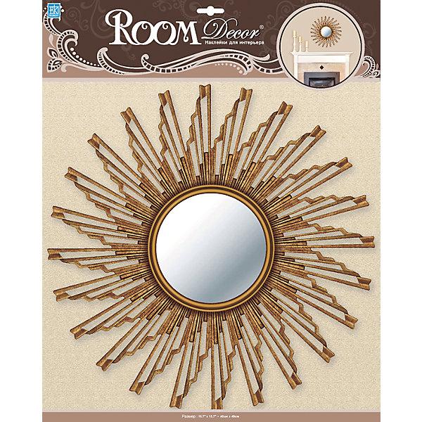Декоративное зеркало большое № 2, Room Decor, золотоДетские предметы интерьера<br>Характеристики:<br><br>• Предназначение: декор комнаты<br>• Серия: Зеркало<br>• Тематика наклеек: без рисунка<br>• Материал: картон, ПВХ<br>• Комплектация: наклейка в виде зеркала<br>• Форма: 3d<br>• Клейкая поверхность крепится на окрашенные стены, обои, двери, деревянные панели, стекло<br>• Не повреждают поверхность<br>• Устойчивы к выцветанию и истиранию<br>• Размеры (Д*Ш*В): 40*7*40 см<br>• Вес: 70 г<br>• Упаковка: блистер<br><br>Все наклейки выполнены из безопасного и нетоксичного материала – ПВХ. Прочная клеевая основа обеспечивает надежное прикрепление практически к любому виду горизонтальной или вертикальной поверхности, при этом не деформируя и не повреждая ее. Наклейки обладают влагоустойчивыми свойствами, поэтому они хорошо переносят влажную уборку. <br><br>Декоративное зеркало большое № 2, Room Decor, золото состоит из 1 элемента, который представляют собой имитацию круглого зеркала, обрамленного золотистой рамой.<br><br>Декоративное зеркало большое № 2, Room Decor, золото можно купить в нашем интернет-магазине.<br>Ширина мм: 400; Глубина мм: 70; Высота мм: 400; Вес г: 70; Возраст от месяцев: 36; Возраст до месяцев: 168; Пол: Унисекс; Возраст: Детский; SKU: 5512966;