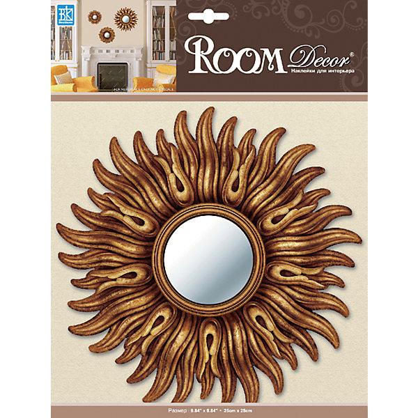 Декоративное зеркало малое №1, Room Decor, золотоДетские предметы интерьера<br>Характеристики:<br><br>• Предназначение: декор комнаты<br>• Серия: Зеркало<br>• Тематика наклеек: без рисунка<br>• Материал: картон, ПВХ<br>• Комплектация: наклейка в виде зеркала<br>• Форма: 3d<br>• Клейкая поверхность крепится на окрашенные стены, обои, двери, деревянные панели, стекло<br>• Не повреждают поверхность<br>• Устойчивы к выцветанию и истиранию<br>• Размеры (Д*Ш*В): 25*7*25 см<br>• Вес: 40 г<br>• Упаковка: блистер<br><br>Все наклейки выполнены из безопасного и нетоксичного материала – ПВХ. Прочная клеевая основа обеспечивает надежное прикрепление практически к любому виду горизонтальной или вертикальной поверхности, при этом не деформируя и не повреждая ее. Наклейки обладают влагоустойчивыми свойствами, поэтому они хорошо переносят влажную уборку. <br><br>Декоративное зеркало малое №1, Room Decor, золото состоит из 1 элемента, который представляют собой имитацию круглого зеркала, обрамленного золотистой рамой. <br><br>Декоративное зеркало малое №1, Room Decor, золото можно купить в нашем интернет-магазине.<br>Ширина мм: 250; Глубина мм: 70; Высота мм: 250; Вес г: 40; Возраст от месяцев: 36; Возраст до месяцев: 168; Пол: Унисекс; Возраст: Детский; SKU: 5512970;