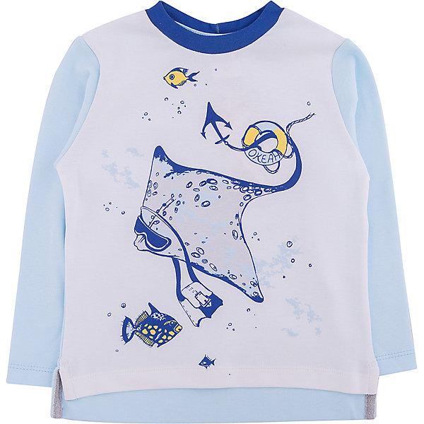 Мамуляндия Футболка с длинным рукавом для мальчика Мамуляндия комплекты детской одежды мамуляндия комплект для мальчика полукомбинезон и футболка клякса