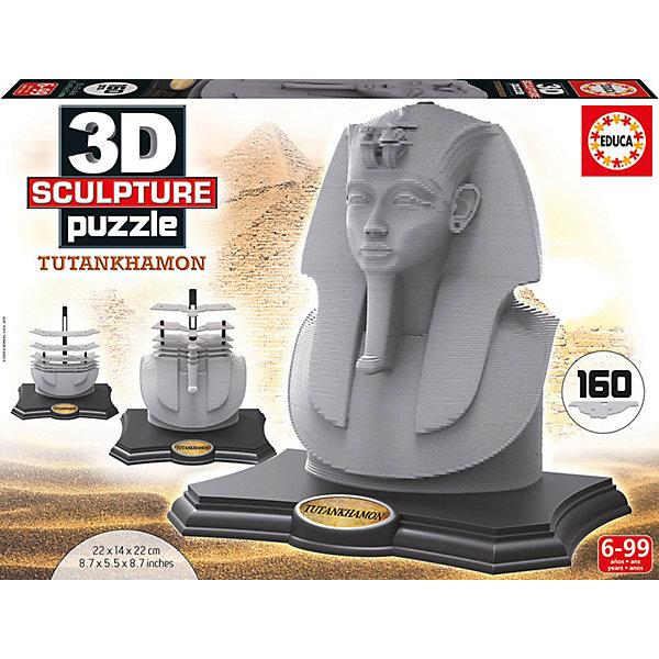 Скульптурный пазл Тутанхамон 3D, 160 деталей, Educa3D пазлы<br>Характеристики товара:<br><br>• возраст: от 6 лет;<br>• количество деталей: 160;<br>• размер собранной картины: 22х14х21 см.;<br>• наличие клея: нет в комплекте;<br>• материал: картон;<br>• упаковка: картонная каробка;<br>• вес: 1,5 кг.;<br>• бренд, страна бренда: Educa (Эдука), Испания;<br>• страна-производитель: Испания.<br>                                                                                                                                                                                                                                                                                                                       <br>Скульптурный 3D-пазл «Тутанхамон», состоящий из 160 элементов, придется по душе всей вашей семье, ведь собрав этот пазл, вы получите трехмерную модель знаменитой египитской скульптуры! Пазл выполнен из высококачественных материалов, что обеспечивает идеальное прилегание элементов друг к другу.<br><br>Собирание пазлов это не только интересно, но и полезно: ведь в процессе создания картинки развивается мелкая моторика, тренируются наблюдательность и логическое мышление. <br><br>Испанская компания Educa Borras, SA выпускает пазлы различной сложности и имеет уникальный сервис: бесплатную доставку в любую точку мира потерянной детали.<br><br>Скульптурный 3D-пазл «Тутанхамон», 160 деталей,  Educa (Эдука) можно купить в нашем интернет-магазине.<br>Ширина мм: 272; Глубина мм: 370; Высота мм: 57; Вес г: 1524; Возраст от месяцев: 60; Возраст до месяцев: 2147483647; Пол: Унисекс; Возраст: Детский; SKU: 5514263;