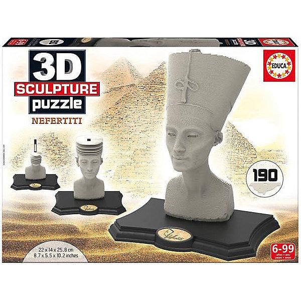 Educa Скульптурный пазл Нефертити 3D, 190 деталей, Educa 3d пазл expetro голова благородного оленя 10640