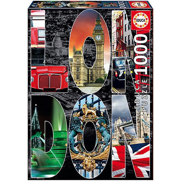 Фото - Educa Пазл Лондон, коллаж, 1000 деталей, Educa educa пазл educa 1000 деталей коллаж ракушки
