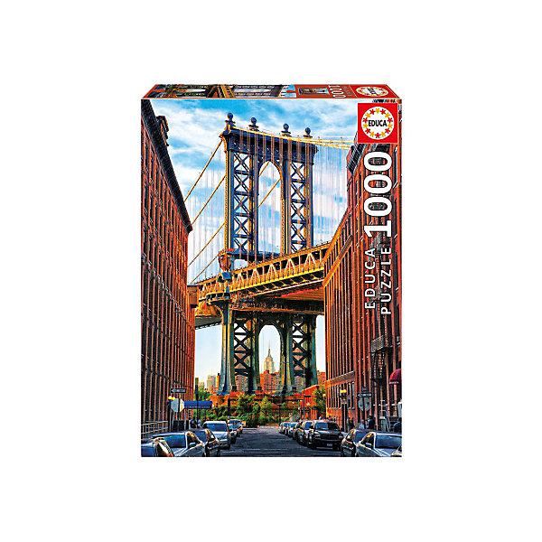 Educa Пазл Манхэттенский мост, Нью-Йорк, 1000 деталей, Educa пазлы educa пазл нью йорк коллаж 1000 элементов