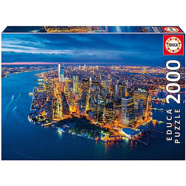 Educa Пазл Нью-Йорк с высоты птичьего полета, 2000 деталей, Educa пазлы educa пазл нью йорк коллаж 1000 элементов