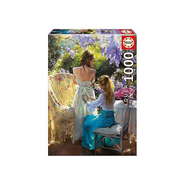 Пазл Весна, Висенте Ромеро, 1000 деталей, EducaПазлы классические<br>Характеристики товара:<br><br>• возраст: от 6 лет;<br>• количество деталей: 1000;<br>• размер собранной картины: 68х48 см.;<br>• наличие клея: в комплекте;<br>• материал: картон;<br>• упаковка: картонная каробка;<br>• вес: 760 гр.;<br>• бренд, страна бренда: Educa (Эдука), Испания;<br>• страна-производитель: Испания.<br>                                                                                                                                                                                                                                                                                                                       <br>Пазл «Весна», состоящий из 1000 элементов, придется по душе всей вашей семье, ведь собрав этот пазл, вы получите великолепную картину известного художника Висенте Ромеро с изображением двух молодых девушек в саду, где в весеннюю пору распускается сирень.<br><br>Пазл выполнен из высококачественных материалов, что обеспечивает идеальное прилегание элементов друг к другу. В комплекте специальный сухой клей, чтобы после сборки склеить части мозайки и сохранить прочность собранной картины на долгое время.<br><br>Собирание пазлов это не только интересно, но и полезно: ведь в процессе создания картинки развивается мелкая моторика, тренируются наблюдательность и логическое мышление.<br><br>Испанская компания Educa Borras, SA выпускает пазлы различной сложности и имеет уникальный сервис: бесплатную доставку в любую точку мира потерянной детали.<br><br>Пазл «Весна», 1000 деталей,  Educa (Эдука) можно купить в нашем интернет-магазине.<br>Ширина мм: 317; Глубина мм: 270; Высота мм: 55; Вес г: 768; Возраст от месяцев: 60; Возраст до месяцев: 2147483647; Пол: Унисекс; Возраст: Детский; SKU: 5514308;