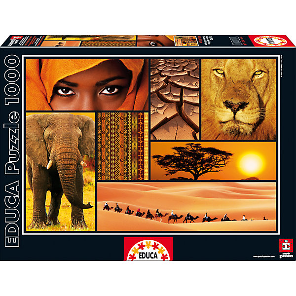 Пазл Мир Африки, 1000 деталей, EducaПазлы классические<br>Характеристики товара:<br><br>• возраст: от 6 лет;<br>• количество деталей: 1000;<br>• размер собранной картины: 68х48 см.;<br>• наличие клея: в комплекте;<br>• материал: картон;<br>• упаковка: картонная каробка;<br>• вес: 760 гр.;<br>• бренд, страна бренда: Educa (Эдука), Испания;<br>• страна-производитель: Испания.<br>                                                                                                                                                                                                                                                                                                                       <br>Пазл «Мир Африки», состоящий из 1000 элементов, придется по душе всей вашей семье, ведь собрав этот пазл, вы получите великолепную картину, которая отлично впишется в интерьер любого помещения.<br><br>Пазл выполнен из высококачественных материалов, что обеспечивает идеальное прилегание элементов друг к другу. В комплекте специальный сухой клей, чтобы после сборки склеить части мозайки и сохранить прочность собранной картины на долгое время.<br><br>Собирание пазлов это не только интересно, но и полезно: ведь в процессе создания картинки развивается мелкая моторика, тренируются наблюдательность и логическое мышление.<br><br>Испанская компания Educa Borras, SA выпускает пазлы различной сложности и имеет уникальный сервис: бесплатную доставку в любую точку мира потерянной детали.<br><br>Пазл «Мир Африки», 1000 деталей,  Educa (Эдука) можно купить в нашем интернет-магазине.<br>Ширина мм: 317; Глубина мм: 270; Высота мм: 55; Вес г: 768; Возраст от месяцев: 60; Возраст до месяцев: 2147483647; Пол: Унисекс; Возраст: Детский; SKU: 5514311;