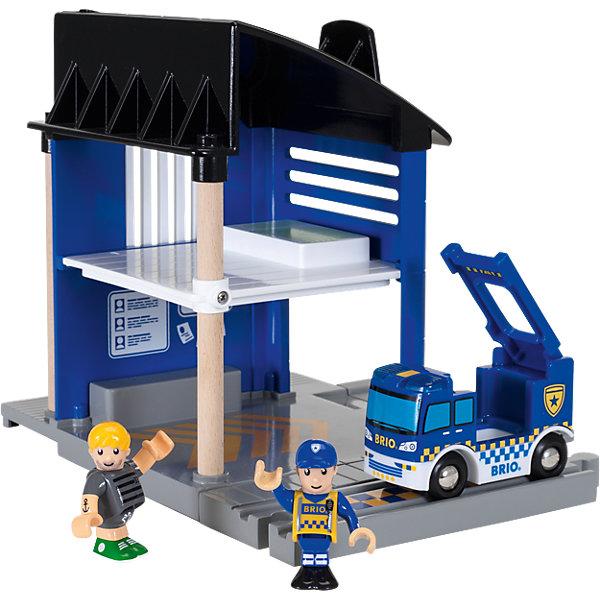 BRIO Игровой набор Полицейский участок, свет, звук, 6 элементов