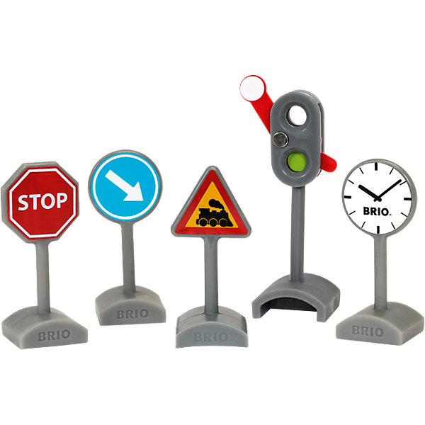 BRIO Набор дорожных знаков Brio, 5 шт