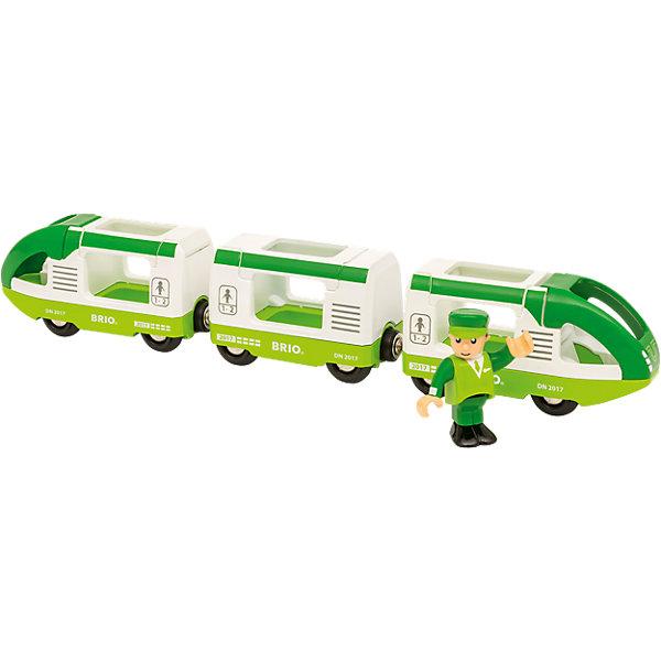 BRIO Игровой набор Brio Зелёный поезд и машинист игровой набор brio детская площадка 4 предмета