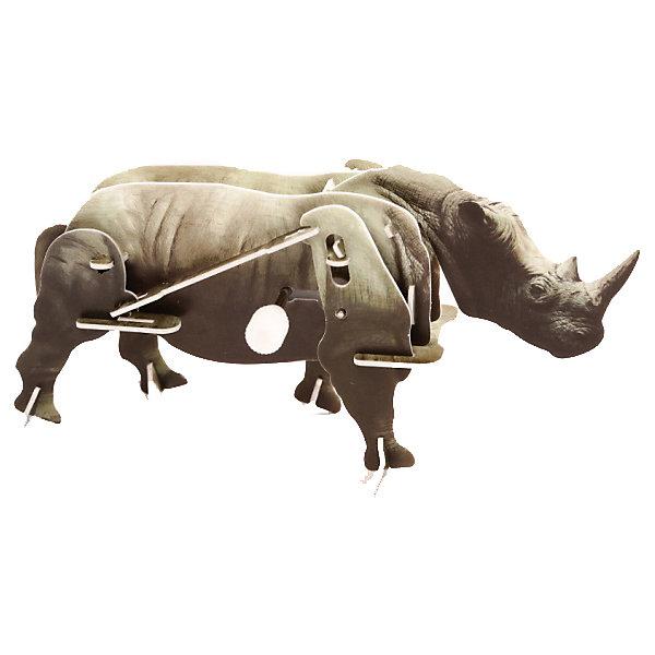 Фотография товара конструктор – 3D пазл заводной: Носорог, UF (5516765)