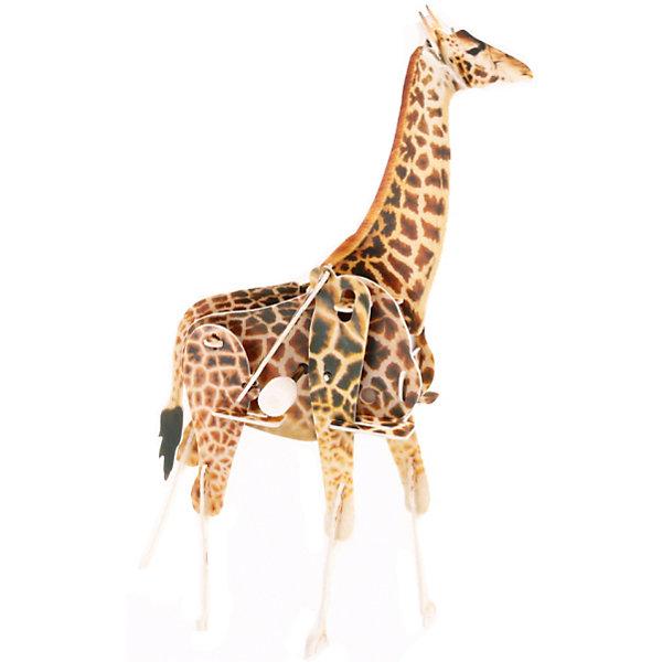 Конструктор – 3D пазл заводной: Жираф, UFПластмассовые конструкторы<br>Заводной 3D-пазл – новое слово в детском творчестве! Чтобы его собрать, ребенку всего лишь понадобится соединить в верном порядке детали из тонкого, но крепкого пластика. При этом в пазл встраивается специальная коробочка с заводным механизмом, которая наделяет фигурку способностью двигаться. Стоит всего лишь завести игрушку, и объемный жираф начнет идти, перебирая ногами. Сборка пазла тренирует моторику и пространственное мышление.<br>Ширина мм: 135; Глубина мм: 100; Высота мм: 25; Вес г: 47; Возраст от месяцев: 72; Возраст до месяцев: 1188; Пол: Унисекс; Возраст: Детский; SKU: 5516767;