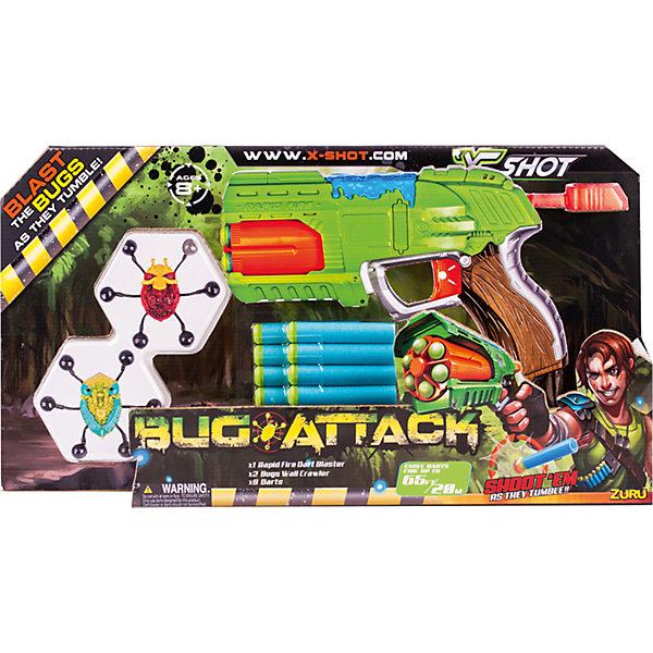 ZURU Бластер с мишенями Zuru Атака Пауков бластер x shot атака пауков зеленый коричневый красный 4815