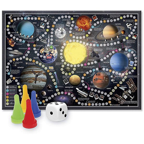Игра-ходилка с фишками Солнечная системаДля дошкольников<br>Характеристики товара:<br><br>• возраст от 3 лет;<br>• материал: картон;<br>• количество игроков: от 2 до 4<br>• время одной игры: от 20 минут<br>• в комплекте: игровое поле, 4 фишки, кубик;<br>• размер игрового поля 59х42 см;<br>• размер упаковки 30х21,5х1,5 см;<br>• страна производитель: Россия.<br><br>Игра-ходилка «Солнечная система» ГеоДом — увлекательная игра, которая отправит детей в настоящее космическое приключение. По пути дети познакомятся с планетами нашей вселенной, их спутниками, а также узнают много новых секретов о космосе.<br><br>Игру-ходилку «Солнечная система» ГеоДом можно приобрести в нашем интернет-магазине.