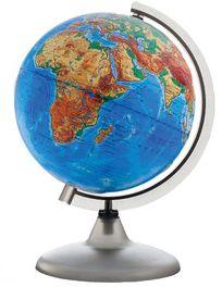 Глобус Земли физический рельефный, диаметр 320 мм, артикул:5518204 - Глобусы