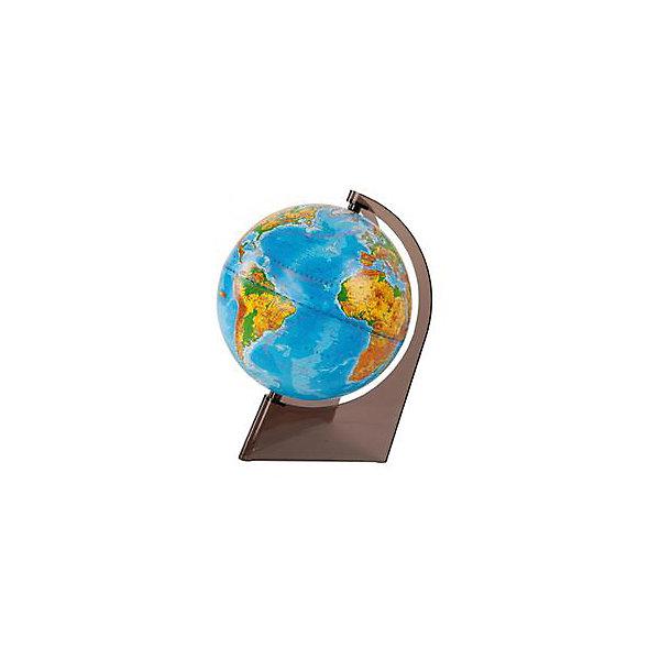 Глобусный Мир Глобус Земли физический на треугольнике, диаметр 210 мм