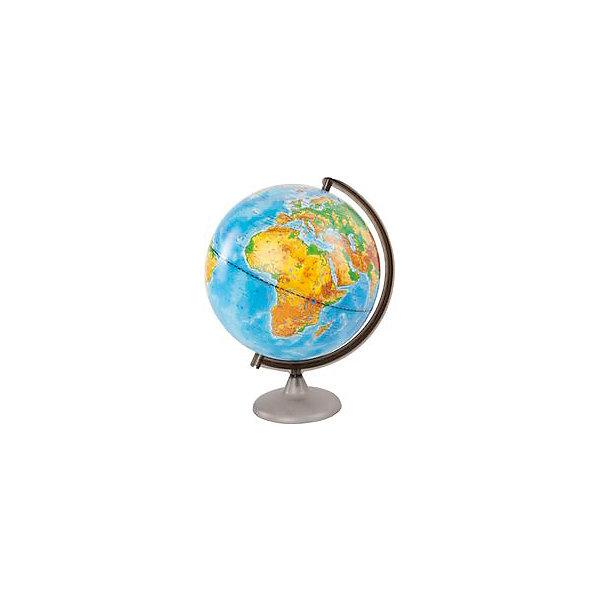 Глобус Земли физический, диаметр 320 ммГлобусы<br>Характеристики товара:<br><br>• возраст от 6 лет;<br>• материал: пластик;<br>• цвет подставки: чёрный<br>• диаметр глобуса 320 мм;<br>• масштаб 1:40000000;<br>• размер упаковки 34,5х32,1х31,2 см;<br>• вес упаковки 950 гр.;<br>• страна производитель: Россия.<br><br>Глобус Земли физический 320 мм Глобусный мир — уменьшенная копия нашей планеты. Глобус станет отличным дополнением во время изучения географии для школьника или студента. На нем можно найти расположение стран и их столиц, а также поближе познакомиться с рельефом и строением нашей планеты. На нем нанесены материки, океаны и моря, острова, глубоководные впадины, горы и возвышенности.<br><br>Глобус Земли физический 320 мм Глобусный мир можно приобрести в нашем интернет-магазине.<br>Ширина мм: 312; Глубина мм: 321; Высота мм: 345; Вес г: 950; Возраст от месяцев: 72; Возраст до месяцев: 2147483647; Пол: Унисекс; Возраст: Детский; SKU: 5518207;