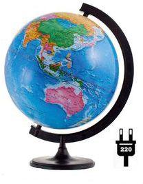 Глобус Земли политический с подсветкой, диаметр 320 мм, артикул:5518212 - Глобусы