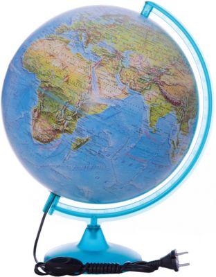 Глобус Земли «Двойная карта» с подсветкой, диаметр 320 мм, артикул:5518223 - Глобусы