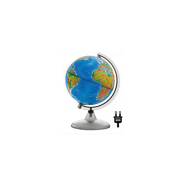 Глобус Земли «Двойная карта» с подсветкой, диаметр 210 ммГлобусы<br>Характеристики товара:<br><br>• возраст от 6 лет;<br>• материал: пластик, дерево;<br>• работает от сети<br>• цвет подставки: вишня, орех<br>• диаметр глобуса 210 мм;<br>• масштаб 1:60000000;<br>• размер упаковки 30х21,7х21,7 см;<br>• вес упаковки 800 гр.;<br>• страна производитель: Россия.<br><br>Глобус Земли «Двойная карта» с подсветкой, 210 мм Глобусный мир — уменьшенная копия нашей планеты. Глобус станет отличным дополнением при изучении географии для школьника или студента. Он позволит познакомиться поближе с нашей планетой, на нем нанесены моря, океаны, глубоководные впадины, материки и острова, горы и возвышенности. Глобус оснащен подсветкой, которая работает от сети.<br><br>Глобус Земли «Двойная карта» с подсветкой, 210 мм Глобусный мир можно приобрести в нашем интернет-магазине.<br>Ширина мм: 217; Глубина мм: 217; Высота мм: 300; Вес г: 800; Возраст от месяцев: 72; Возраст до месяцев: 2147483647; Пол: Унисекс; Возраст: Детский; SKU: 5518225;