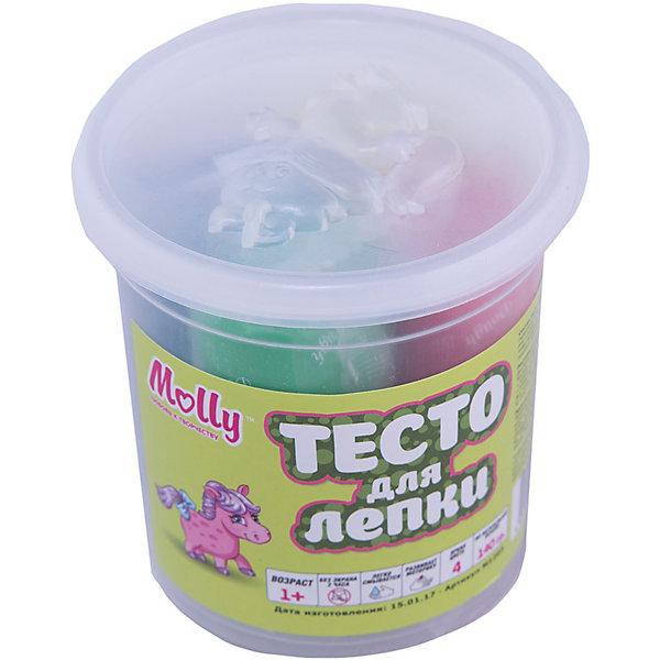 Molly Тесто для лепки 4 цвета всё для лепки свинка пеппа peppa pig тесто для лепки 4 цвета