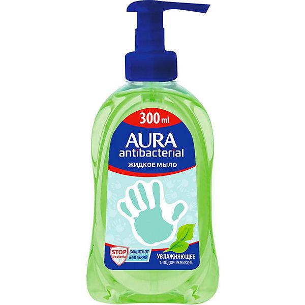 Купить Жидкое мыло AURA Деликатное с подорожником, 300 мл, Cotton Club, Россия, Унисекс