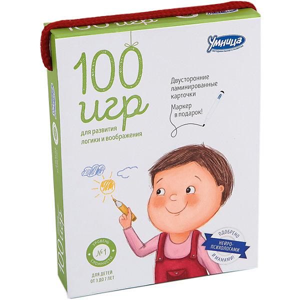 Купить Карточки 100 игр , Уровень 1, Умница, Китай, Унисекс