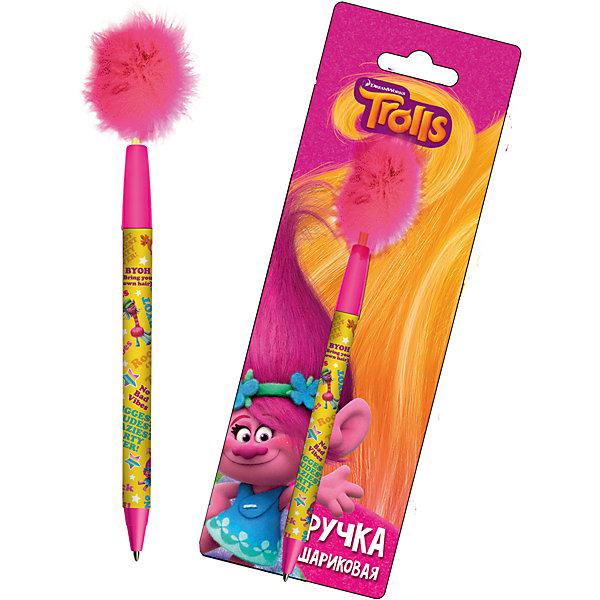 Limpopo Ручка синяя шариковая с перьями, Trolls