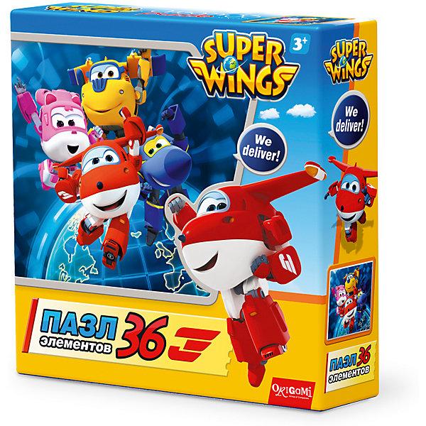 Пазл We deliver!, Super Wings, OrigamiПазлы для малышей<br>Пазл We deliver!, Super Wings, Origami<br><br>Характеристики:<br><br>• Количество деталей: 36 шт.<br>• Размер упаковки: 15 * 4,5 * 15 см.<br>• Размер готовой картинки: 21 * 21 см.<br>• Состав: картон<br>• Вес: 100 г.<br>• Для детей в возрасте: от 3 лет<br>• Страна производитель: Россия<br><br>Лицензионный пазл с оригинальным дизайном соответствует высоким стандартам, которые подтверждены сертификатами качества. Пазл отлично собирается, некоторые части картинки повторяются по цвету, это сделает сборку немного сложнее и интереснее. Закончив сборку вы можете склеить кусочки превратив пазл в красивую картину, или можете разобрать его и снова собрать позже.<br><br>Пазл We deliver!, Super Wings, Origami можно купить в нашем интернет-магазине.<br>Ширина мм: 150; Глубина мм: 45; Высота мм: 150; Вес г: 100; Возраст от месяцев: 36; Возраст до месяцев: 72; Пол: Унисекс; Возраст: Детский; SKU: 5528430;