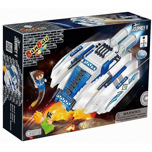 Конструктор Космический летательный аппарат, 237 дет., BanBaoПластмассовые конструкторы<br>Характеристики:<br><br>• тип игрушки: конструктор;<br>• возраст: от 5 лет;<br>• количество деталей: 237 шт; <br>• размер: 33х24х7 см;<br>• бренд: BanBao;<br>• упаковка: картонная коробка;<br>• материал: пластик.<br><br>Конструктор «Космический летательный аппарат» 237 дет., BanBao познакомит ребенка с интересным занятием. В набор входят элементы в количестве 237 штук, которые легко стыкуются между собой креплению. Детали сделаны из нетоксичного пластика и отличаются высокой прочностью и износоустойчивостью.<br><br>Из многочисленных деталей конструктора ребёнок сможет собрать космический летательный аппарат для увлекательного игрового сюжета. Все детали выполнены из невредных материалов, прошедших проверку. Конструктор можно использовать с другими игрушками.<br>Занятия с конструктором развивают концентрацию внимания, усидчивость, логическое и пространственное мышление, а также совершенствуют моторику рук. Этот набор подойдет для детей от 5 лет и старше.<br><br>Конструктор «Космический летательный аппарат» 237 дет., BanBao можно купить в нашем интернет-магазине.<br>Ширина мм: 330; Глубина мм: 240; Высота мм: 70; Вес г: 688; Возраст от месяцев: 60; Возраст до месяцев: 1188; Пол: Мужской; Возраст: Детский; SKU: 5528485;