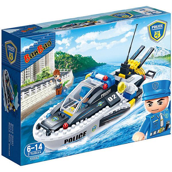 BanBao Конструктор Полицейский катер, 225 дет.,