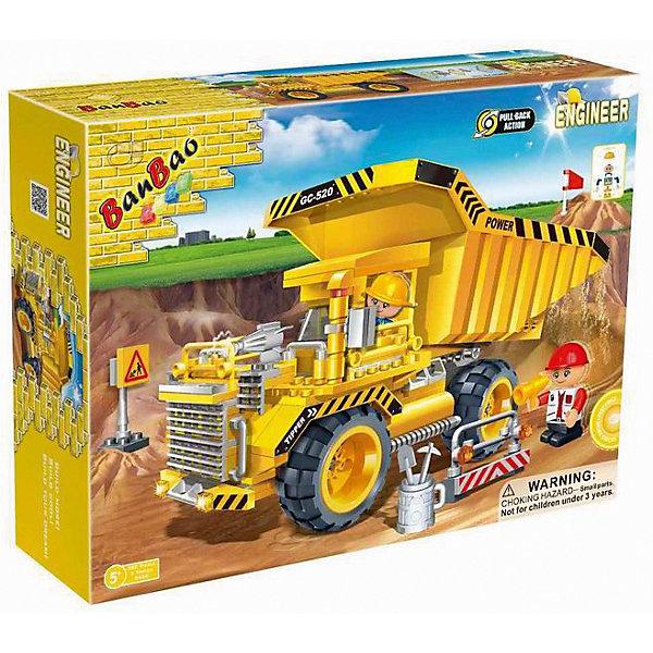 BanBao Конструктор Самосвал грузовой, 280 дет., BanBao banbao конструктор крупкие детали поросенок пейдж образовательные игрушки для детей