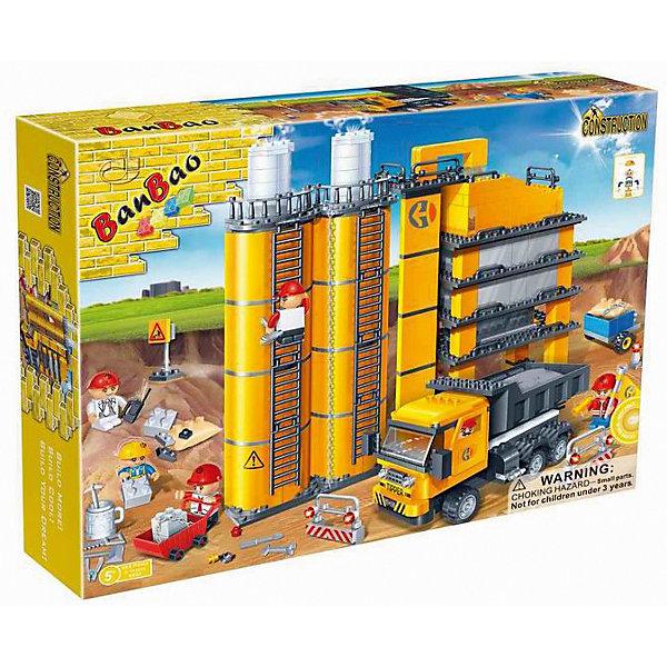 Конструктор Строительный, 552 дет., BanBaoПластмассовые конструкторы<br>Характеристики:<br><br>• тип игрушки: конструктор;<br>• возраст: от 5 лет;<br>• количество деталей: 552 шт; <br>• размер: 45х35х7 см;<br>• бренд: BanBao;<br>• упаковка: картонная коробка;<br>• материал: пластик.<br><br>Конструктор «Строительный», 552 дет., BanBao познакомит ребенка с интересным занятием. В набор входят элементы в количестве 552 штук, которые легко стыкуются между собой креплению. Детали сделаны из нетоксичного пластика и отличаются высокой прочностью и износоустойчивостью.<br><br>Собрав элементы конструктора в правильном порядке, дети получат не только главных героев, но и декорации для игрового сюжета в виде стройплощадки, на которой расположено многоуровневое здание завода с резервуарами и лестницами. Дополнительно в комплекте предусмотрены 6 фигурок, выполняющие роли строителей, а также различные игровые аксессуары (знаки, ограждения, инструменты и др.).<br><br>Занятия с конструктором развивают концентрацию внимания, усидчивость, логическое и пространственное мышление, а также совершенствуют моторику рук. Этот набор подойдет для детей от 5 лет и старше.<br><br>Конструктор «Строительный», 552 дет., BanBao можно купить в нашем интернет-магазине.<br>Ширина мм: 450; Глубина мм: 350; Высота мм: 70; Вес г: 1500; Возраст от месяцев: 60; Возраст до месяцев: 1188; Пол: Мужской; Возраст: Детский; SKU: 5528535;