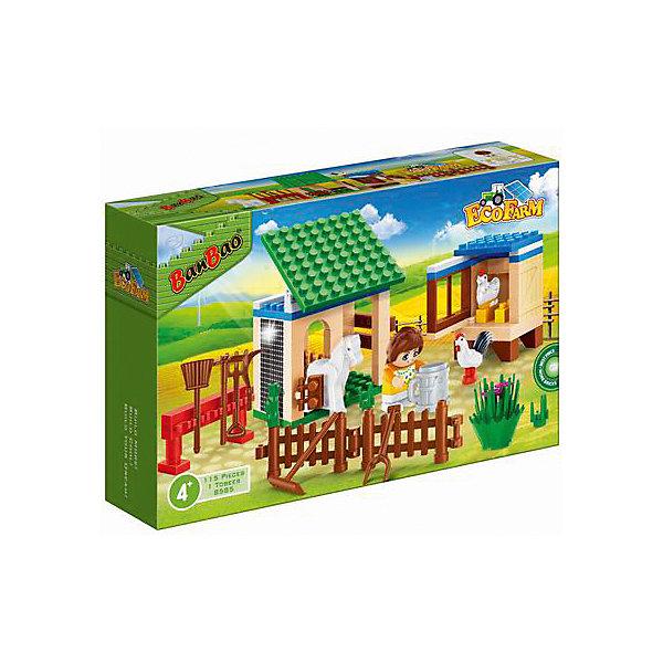 BanBao Конструктор Ферма, 115 дет., BanBao banbao конструктор крупкие детали поросенок пейдж образовательные игрушки для детей
