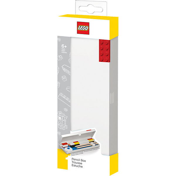 LEGO Пенал, цвет: красный,