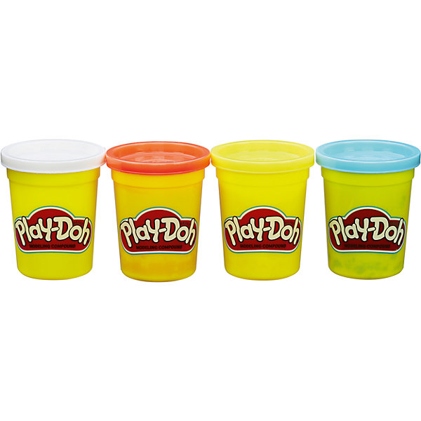 Hasbro Набор из 4 баночек , B5517/B6508, Play-Doh, Hasbro