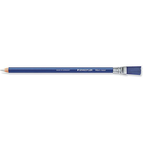 Ластик-карандаш Mars Rasor, для карандашей, ручек, чернил, с кисточкой, StaedtlerЛастики и точилки<br>Ластик-карандаш Mars Rasor, для карандашей, ручек, чернил, с кисточкой, Staedtler (Штедлер).<br><br>Характеристики:<br><br>• Для детей в возрасте: от 5 лет<br>• Материал: термопластический синтетический каучук<br>• Без фталата и латекса<br>• Размер: 209х10х8 мм.<br><br>Ластик Mars rasor, выполненный в виде карандаша с ластиком вместо грифеля и кисточкой на конце, предназначен для точечного стирания. Он отлично удаляет следы, оставляемые шариковой ручкой. Изготовлен из термопластического синтетического каучука, гипоаллергенен.<br><br>Ластик-карандаш Mars Rasor, для карандашей, ручек, чернил, с кисточкой, Staedtler (Штедлер) можно купить в нашем интернет-магазине.<br>Ширина мм: 209; Глубина мм: 10; Высота мм: 80; Вес г: 45; Возраст от месяцев: 60; Возраст до месяцев: 2147483647; Пол: Унисекс; Возраст: Детский; SKU: 5529986;