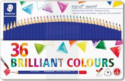 Набор акварельных карандашей ergosoft, трехгранные, 36 цветов, артикул:5529993 - Рисование и лепка