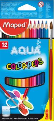 Карандаши акварель COLOR PEP'S AQUA, 12 цветов, MAPED, артикул:5530025 - Рисование и раскрашивание