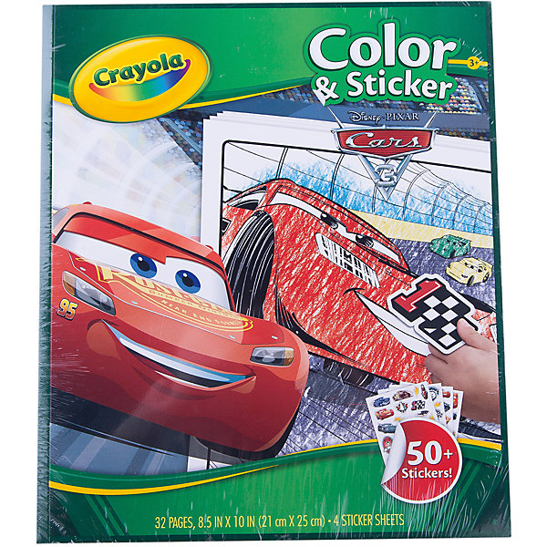 Crayola Раскраска  наклейками Тачки 3