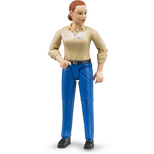 все цены на Bruder Фигурка женщины, голубые джинсы, Bruder онлайн