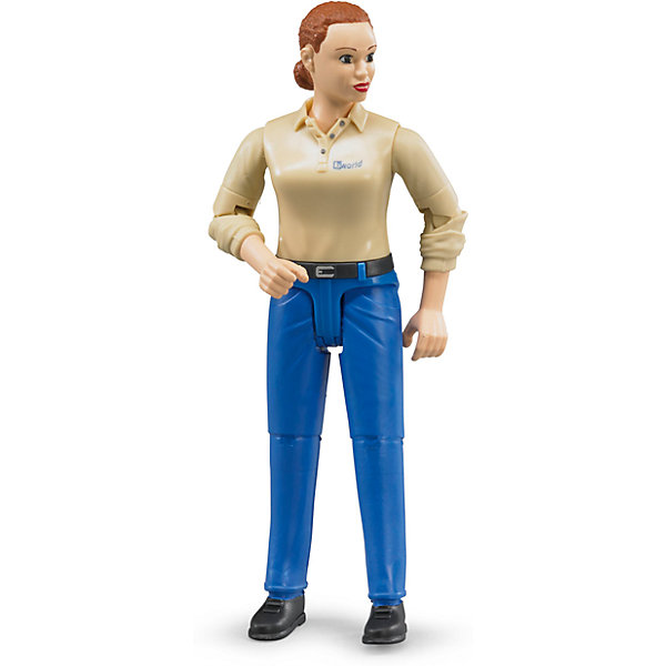 Bruder Фигурка женщины, голубые джинсы, Bruder levi's® прямые голубые джинсы 501® taper