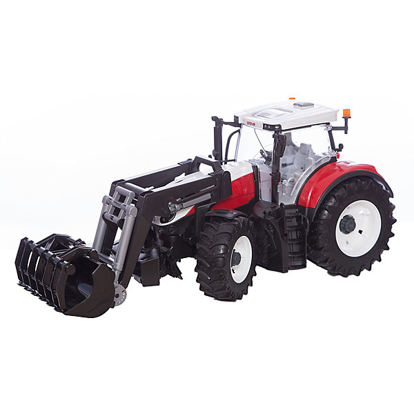 Bruder Трактор Steyr 6300 Terrus CVT c погрузчиком, Bruder трактор bruder fendt 936 vario с погрузчиком 03 041