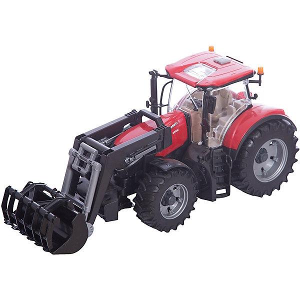 лучшая цена Bruder Машинка Bruder Трактор Case IH Optum 300 CVX с погрузчиком