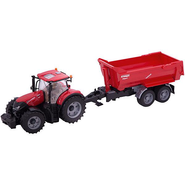 Bruder Трактор Case IH Optum 300 CVX с прицепом Krampe Tandem-Halfpipe, Bruder трактор bruder claas axion 950 03 012
