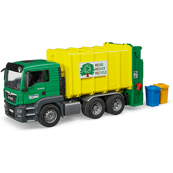 Bruder Мусоровоз MAN TGS, зеленый/желтый , Bruder bruder фигурки скорая помощь с аксессуарами bruder