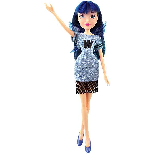 Кукла Муза Мода и магия-3, Winx ClubИгрушки<br>Характеристики товара:<br><br>• возраст: от 3 лет;<br>• материал: пластик, текстиль;<br>• в комплекте: кукла, платье, крылья;<br>• высота куклы: 28 см;<br>• размер упаковки: 25х20х10 см;<br>• вес упаковки: 167 гр.;<br>• страна производитель: Китай.<br><br>Кукла Муза «Мода и магия-3» Winx Club создана по мотивам известного мультсериала «Клуб Винкс: Школа волшебниц» про очаровательных фей-волшебниц. Муза умеет петь и играть на музыкальных инструментах. Когда она собирается с подругами, Муза любит подшутить над ними и развеселить их.<br><br>У феи выразительные голубые глаза и необычные синие волосы с челкой, которые можно расчесывать, заплетать и украшать. Одета Муза в спортивное синее платье с буквой W. Дополняют образ куколки крылышки на спине. У куклы несколько точек артикуляции. Руки сгибаются в локтях и плечах, ноги в бедрах и коленях. <br><br>Куклу Музу «Мода и магия-3» Winx Club можно приобрести в нашем интернет-магазине.<br>Ширина мм: 200; Глубина мм: 250; Высота мм: 100; Вес г: 167; Возраст от месяцев: 36; Возраст до месяцев: 2147483647; Пол: Женский; Возраст: Детский; SKU: 5532634;