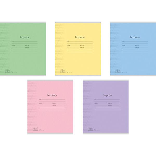 Тетрадь 12 листов в линовку, упаковка из 10 шт.Тетради<br>Тетрадь 12 листов в линовку, 10 шт.<br><br>Характеристики:<br><br>• Количество: 10 шт.<br>• Формат: А5<br>• Внутренний блок: 12 листов  (офсет)<br>• Линовка: косая узкая линейка, с полями<br>• Тип крепления: скрепка<br>• Обложка: мелованный картон<br>• В упаковке: 5 видов тетрадей<br><br>Тетрадь в косую узкую линейку с полями предназначены для занятий детей дошкольного и младшего школьного возраста. Отличная полиграфия и качественная бумага обеспечат высокое качество письма. Обложка из мелованного картона позволит сохранять тетрадь в аккуратном виде в течение всего периода использования.<br><br>Тетрадь 12 листов в линовку, 10 шт. можно купить в нашем интернет-магазине.<br>Ширина мм: 170; Глубина мм: 20; Высота мм: 205; Вес г: 349; Возраст от месяцев: 60; Возраст до месяцев: 204; Пол: Унисекс; Возраст: Детский; SKU: 5540082;