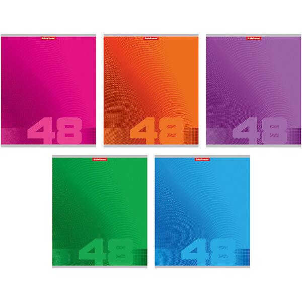 Erich Krause Тетрадь 48 л, упаковка из 5 шт., клетка erich krause тетрадь 12 листов цвет голубой упаковка из 10 шт линейка