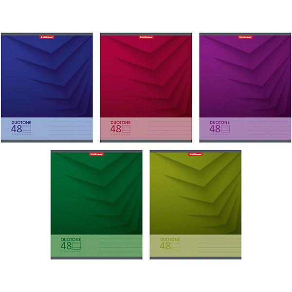 Erich Krause Тетрадь 48 л Duotone Next, упаковка из 5 шт., линейка erich krause набор тетрадей родные просторы 24 листа в клетку 10 шт