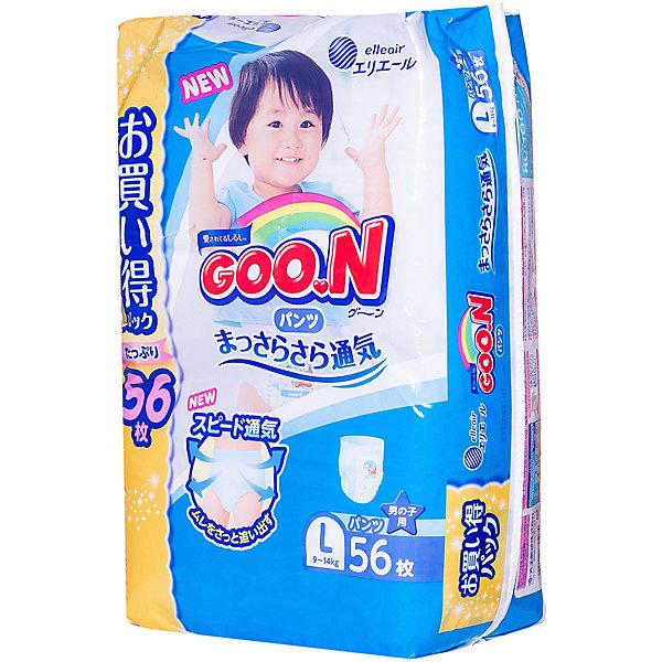 Goon Подгузники-трусики для девочек ULTRA JUMBO PACK, L 9-14 кг., 56 шт., Goon